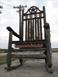 Image for Worlds Largest Cedar Rocking Chair - Star of Texas Rocker