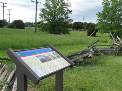 The Battle Of New Market CWDT marker is on the road that leads into the New Market Battlefield State Historical Park and Hall of Valor Museum.