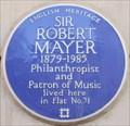 Image for Sir Robert Mayer - Mansfield Street, London, UK
