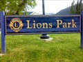 Image for Lions Uphill Park Sign - Uphill Park - Nelson, BC