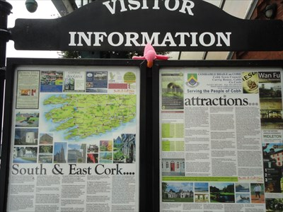 The visitor information sign outside the depot
