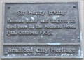 Image for Death of Sir Henry Irving - Bradford, UK