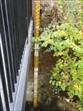 Image for River Gauge on Bridge, Uckfield Sussex, UK.