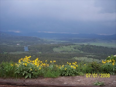 View from Signal Mountain Summit, excuse the rain!, by MountainWoods. The clouds let up AFTER we returned back to the main road. :(