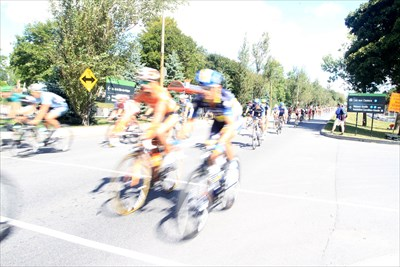 Despite the closed car park the roads were buzzing with riders and spectators on this perfect late summer day