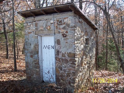 Outhouses at Vine Hill School/Church, by MountainWoods