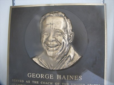 George Haines plaque, International Swim Center HOF, Santa Clara, California