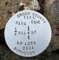 Image for T15S R13E S12 R14E S7 1/4 COR - Crook County, OR