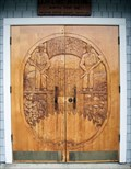 Image for Coos County Logging Museum Carved Door  -  Myrtle Point, OR