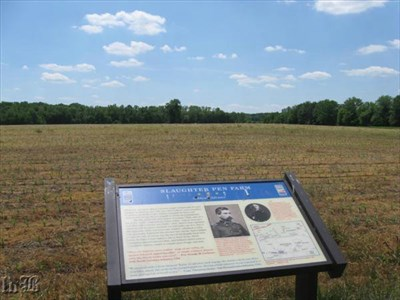 Union Gen. Gibbons tried to advance his troops over the ridge, but was met by fire by the North Carolinians and came to a standstill.