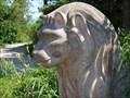 Image for Löwe, Lion, Bushaltestelle, Stetten, Rimsting, Lk Rosenheim