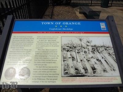 TOWN OF ORANGE ☆ ☆ ☆ Confederate Hardships