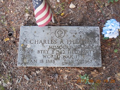 World War I veteran at Phillips Cemetery, by MountainWoods