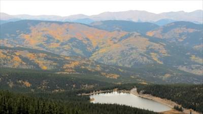 View down to Echo Mountain Lake
