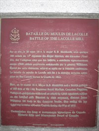 Battle of the Lacolle Mill - Lacolle, PQ, Canada