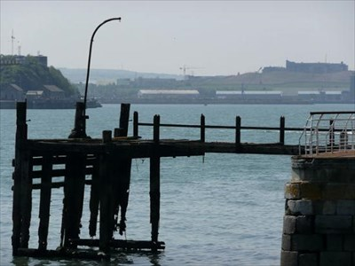 The original pier, which was moored Titanic.