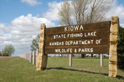 This is the sign as you drive into the lake area.