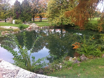Pond at Entrance, Dayton, Ohio
