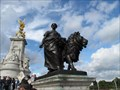 Image for Lion and Farm Woman - Victoria Memorial - Westminster, London, UK