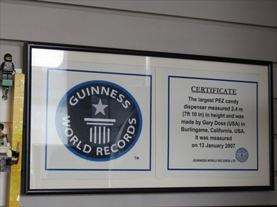 Guiness World Records Plaque, Burlingame, California