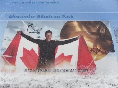 Photo sur panneau D'Alexandre  double médaillé d'Or Canadien et Québécois.  Photo D'Alexandre panel   Gold medalist Canadian and Québécois