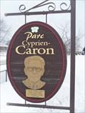 Image for Plaque Parc Cyprien-Caron.  -St-Joseph-du-Lac.   -Québec.