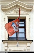 Image for Velvary - municipal flag on Town Hall / mestská vlajka na radnici - Velvary (Central Bohemia)