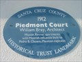 Image for Blue Plaque: Piedmont Court