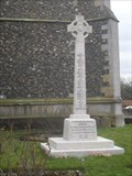 Image for Combined War Memorial, Churchyard of St.Mary the Virgin's Church, The Causeway, Walsham le Willows, Suffolk. IP31 3AA.