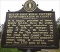 Image for Site of First Rural Electric Co-Op Substation in County