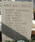 Image for First German Reformed Church Cemetery War Memorial (WWI)l - Ragersville, OH