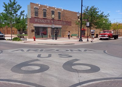 Giant Route 66 Logo - Winslow Arizona, USA.