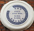 Image for John Dryden - Gerrard Street, London, UK