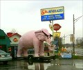 Image for Pink Elephant in front of Liquor Store -- Fortville, IN