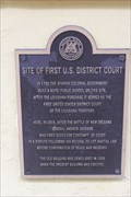 Image for FIRST -- US District Court in Louisiana Territory, New Orleans LA