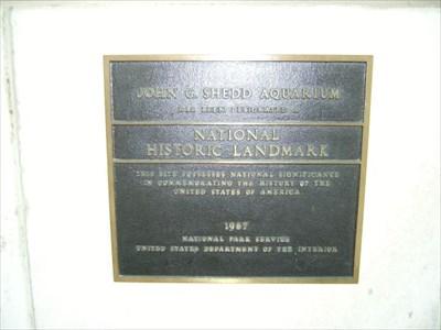 National Register of Historic Places plaque at Shedd Aquarium - Chicago, IL