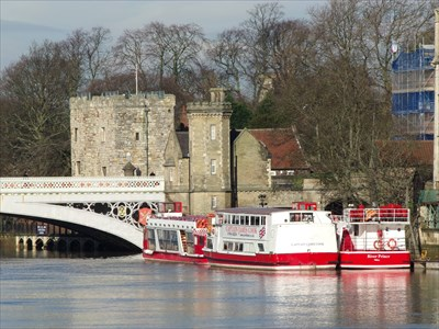 City River Cruise - Tourist Attraction - York, Great Britain.