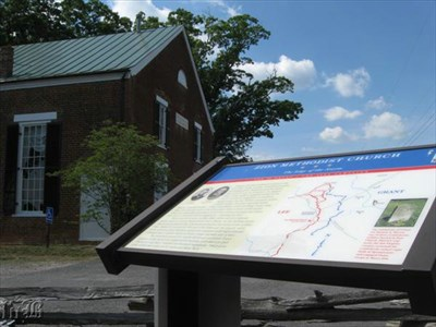Zion Methodist Church is a stop of the 1864 Overland Campaign Tour of the Civil War Discovery Trail.