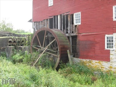 The old 18` wheel is a reminder of what this mill used to do over 100 years ago.