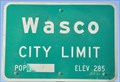 Image for Wasco ~ Elevation 285