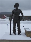 Image for CCC Worker Sculpture - Warren County Pennslyvania Visitor Center
