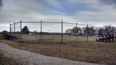 Ball Field #1 at Pea Ridge City Park, by MountainWoods.  This is taken from just behind the backstop looking toward 2nd base.