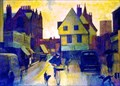 "Image for ""Rain in St Albans"" by Mary Hoad – Market Place, St Albans, Herts, UK"