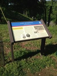 Fort Dickerson, Civil War Trails Interpretative Sign, Knoxville, Tennessee