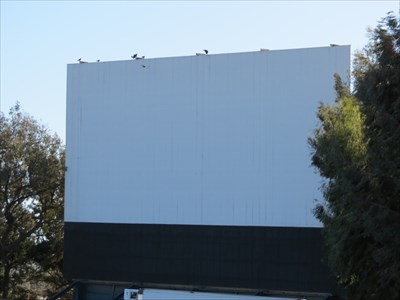 Hi-Way Drive-In Theater screen from front, Santa Maria, CA