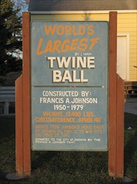 Near twine ball and museum