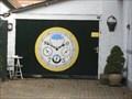 Image for Clock on garage door - Heerenveen