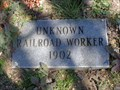 Image for Unknown Railroad Worker - Ozro Cemetery - Near Maypearl, TX