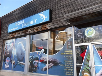 Aqua Plein Air boutique ,école de plongé, de cours de formations et beaucoup plus.