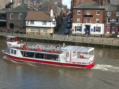 Ouse River Cruise - Tourist Attraction - York, Great Britain.